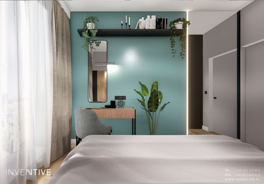 Aranżacja sypialni z toaletką