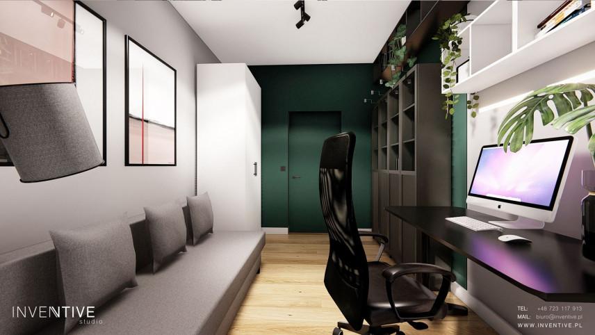Projekt pokoju do pracy w mieszkaniu