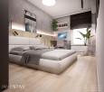 Aranżacja sypialni z batonowa ścianą