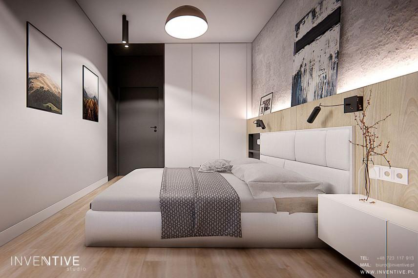 Aranżacja sypialni z tapicerowanym łóżkiem