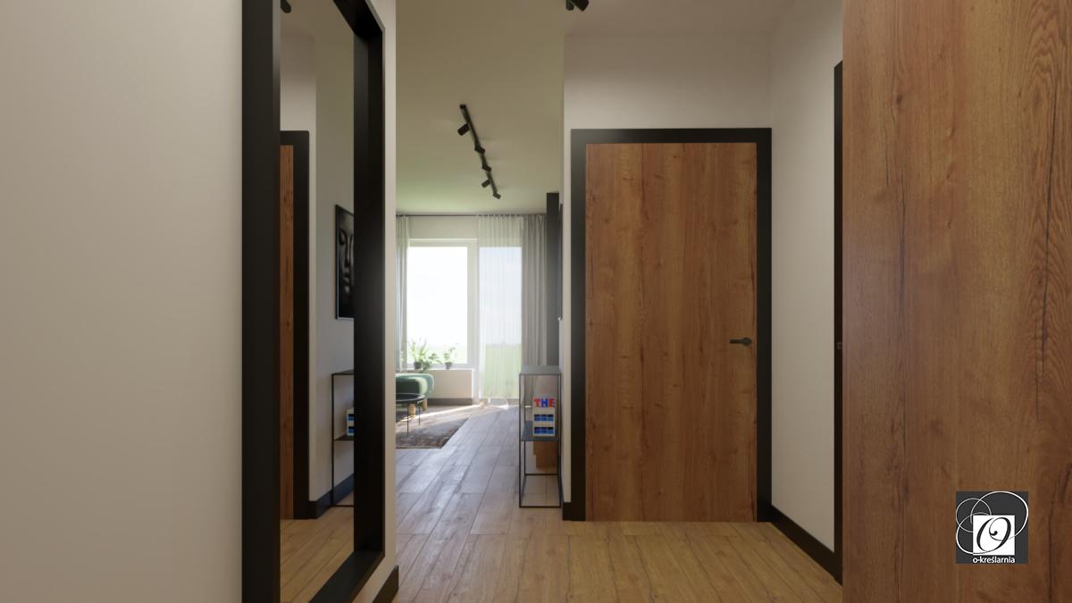 Przedpokój w mieszkaniu w stylu loft