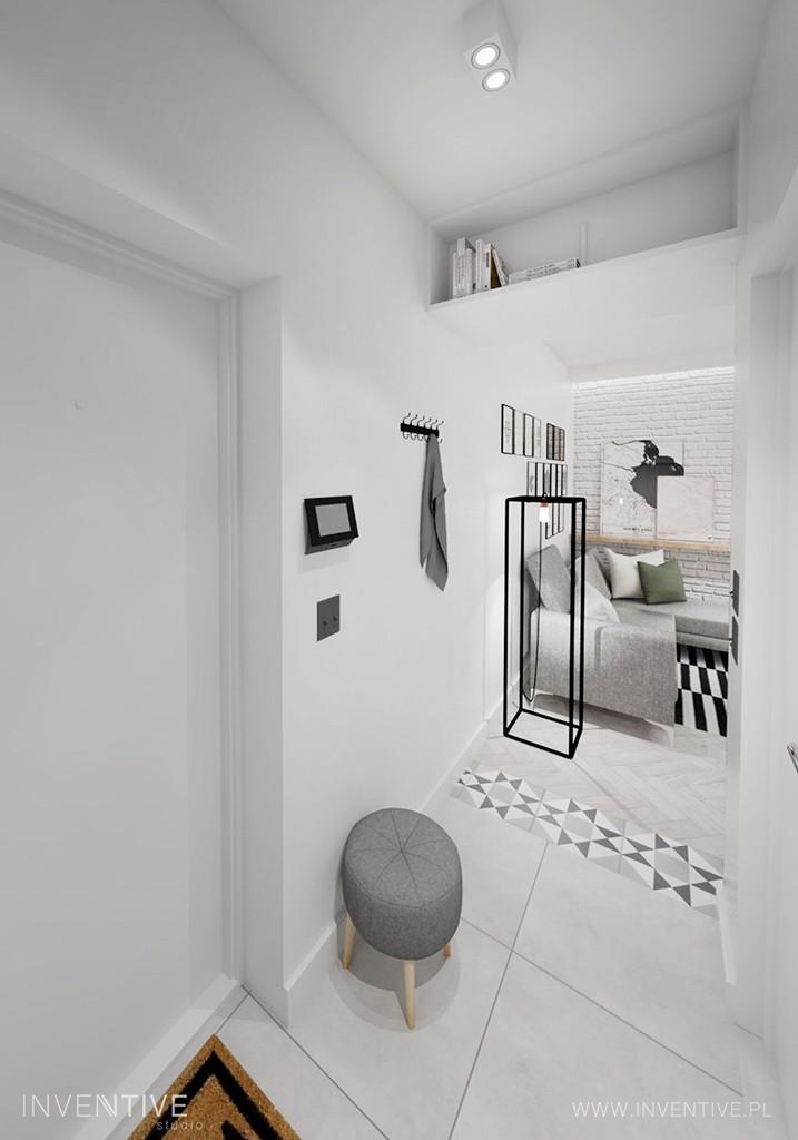 Mieszkanie w minimalistycznej bieli
