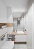 Łazienka w styli scandi z białymi frontami