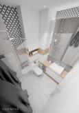 Biała łazienka rzut z góry