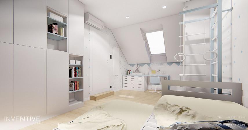 Pokój nastolatka w kolorze białym
