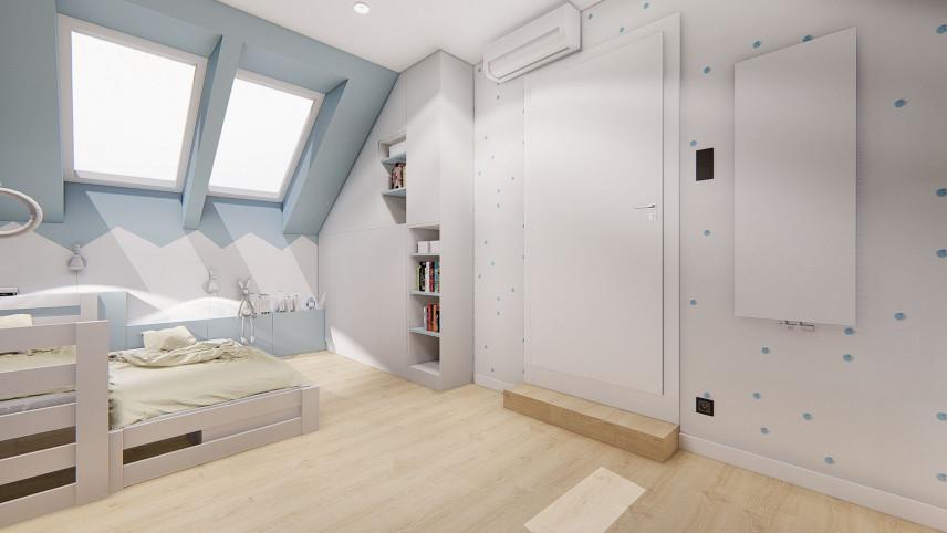Błękitno-biały pokój dziecięcy