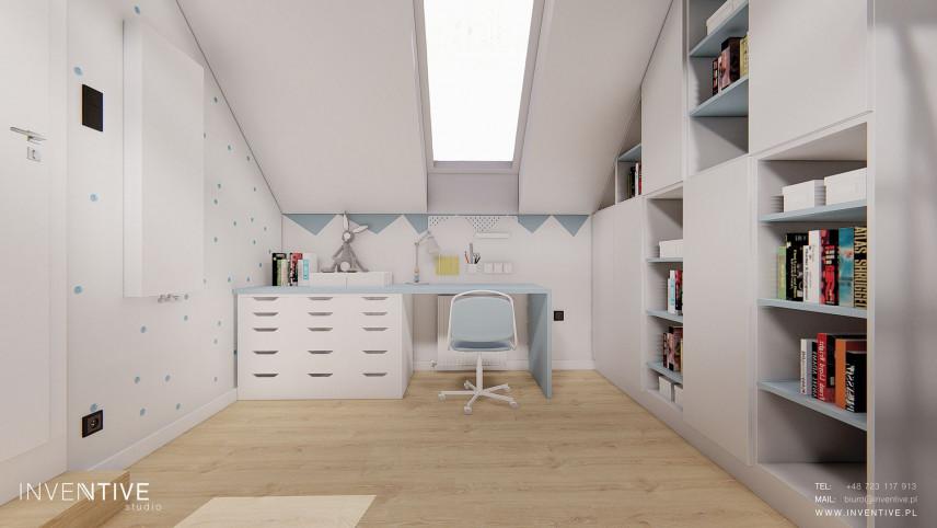 Biało-niebieski pokój chłopca