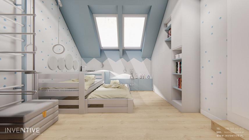 Pokój chłopca z rozkładanym łóżkiem
