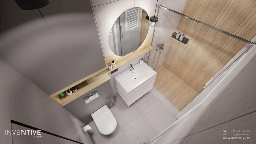 Łazienka z prysznicem i wc