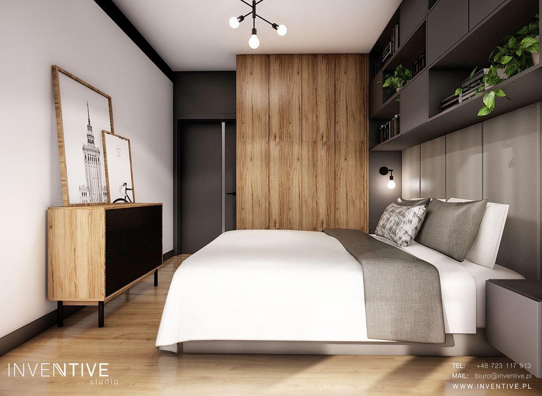 Sypialnia z komodą w stylu loft