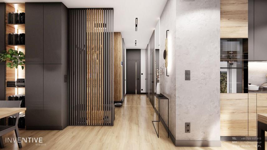Projekt korytarza z przedpokojem