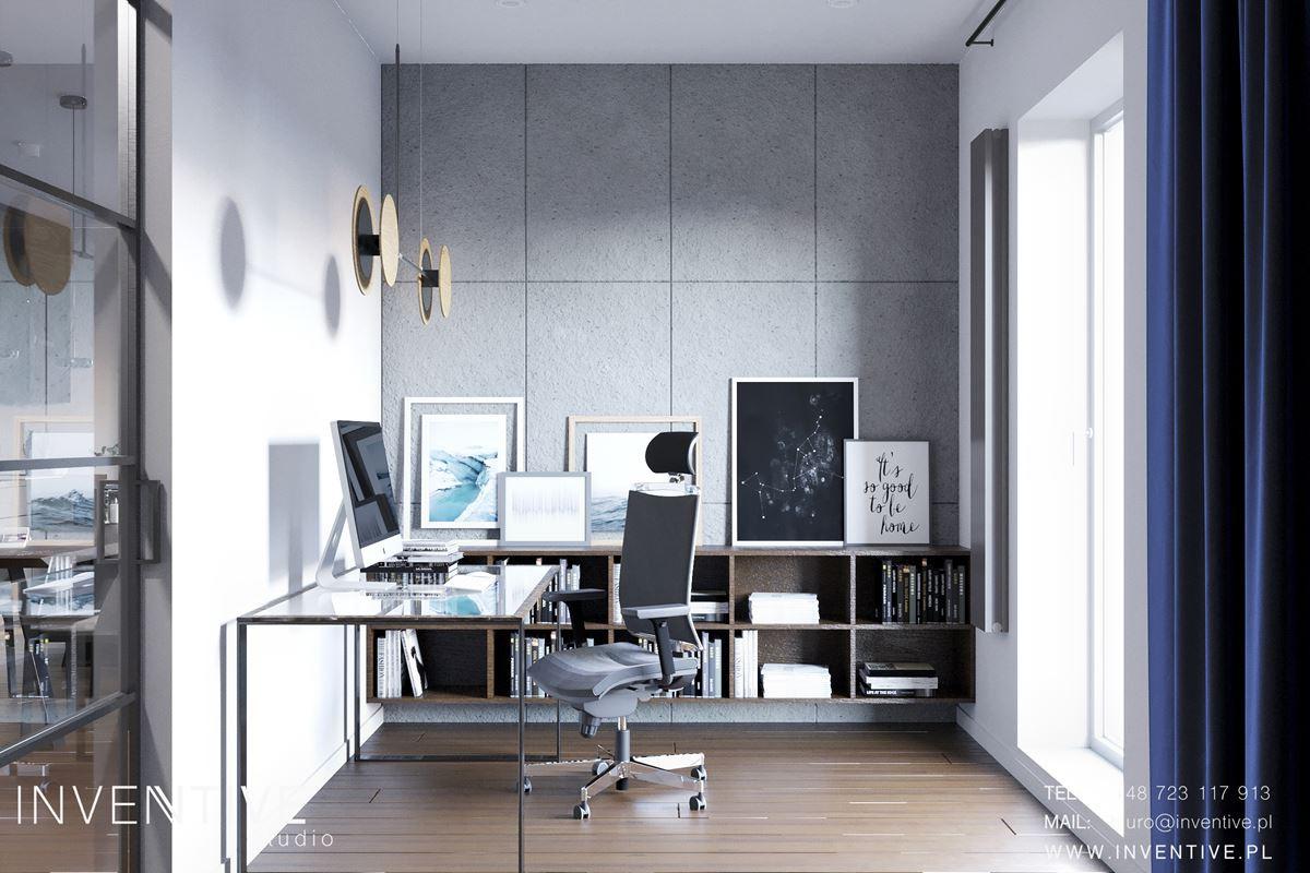 Projekt pomieszczenia przystosowanego do pracy w domu