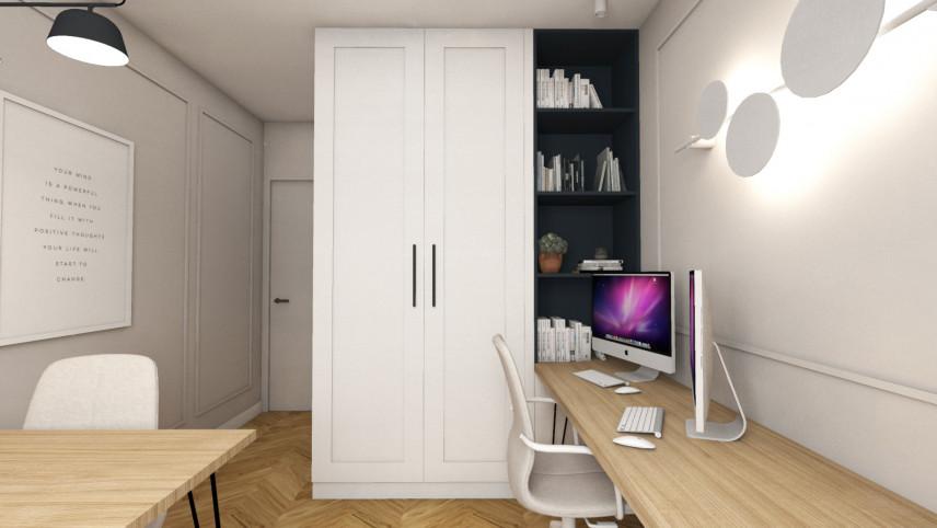Nowoczesny pokój do pracy w domu