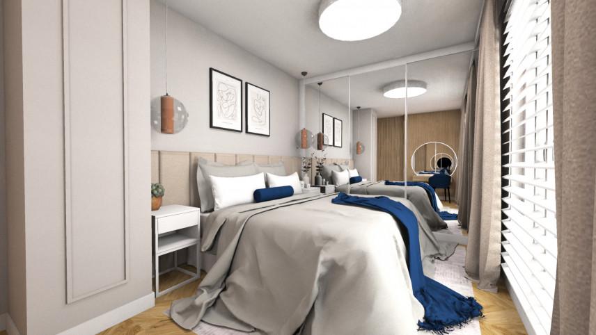 Projekt sypialni z bezowymi ścianami