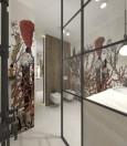 Łazienka z oryginalną grafiką