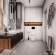 Aranżacja łazienki z gresowymi płytkami na podłodze