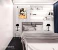 Aranżacja sypialni z grafitową wykładziną