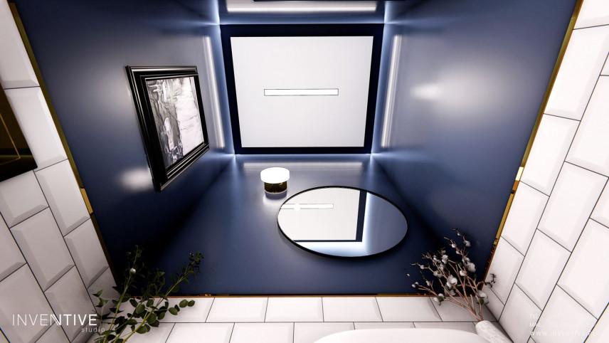 Aranżacja łazienki z oświetleniem Led sufitowym