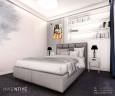 Aranżacja sypialni z półkami ściennymi