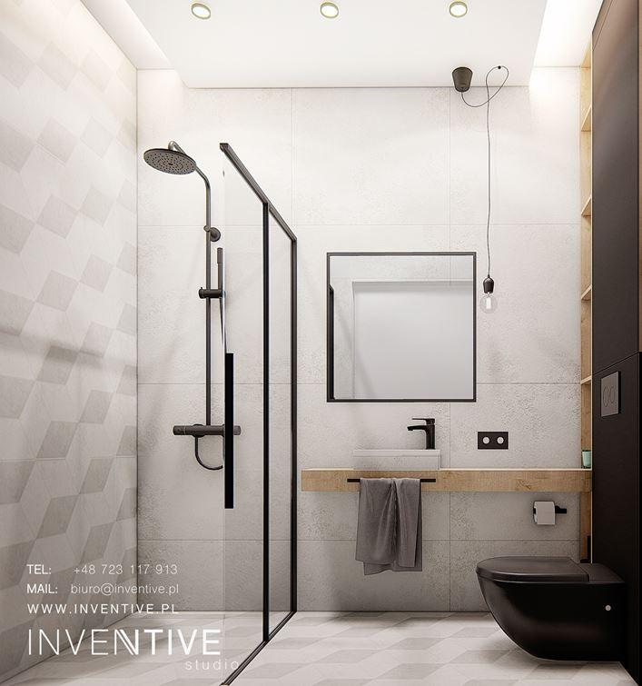 Aranżacja łazienki z imitacją betonu na płytkach