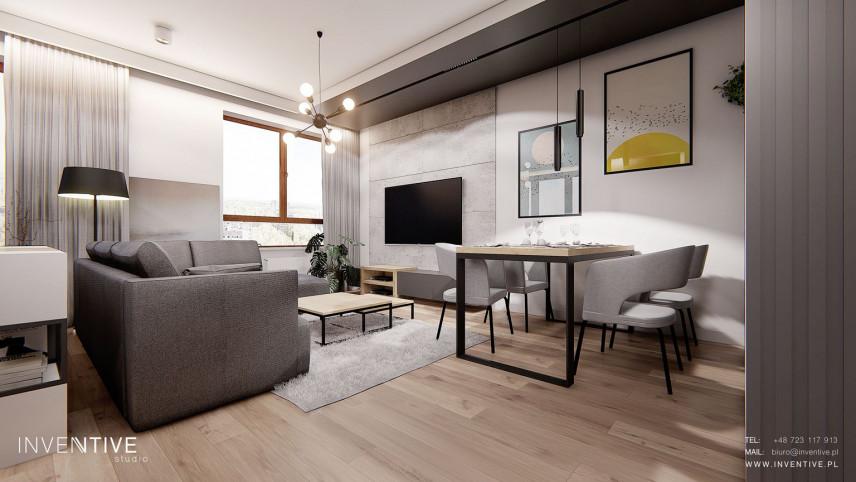Salon ze stolikiem kawowym w stylu loft