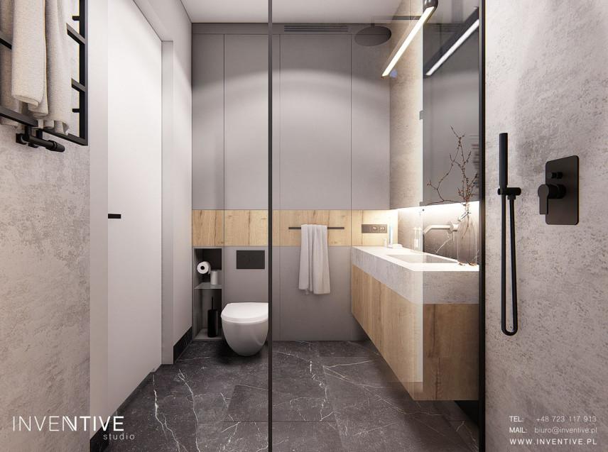 Aranżacja łazienki w szarościach