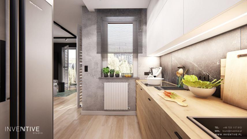 Aranżacja małej kuchni z oknem