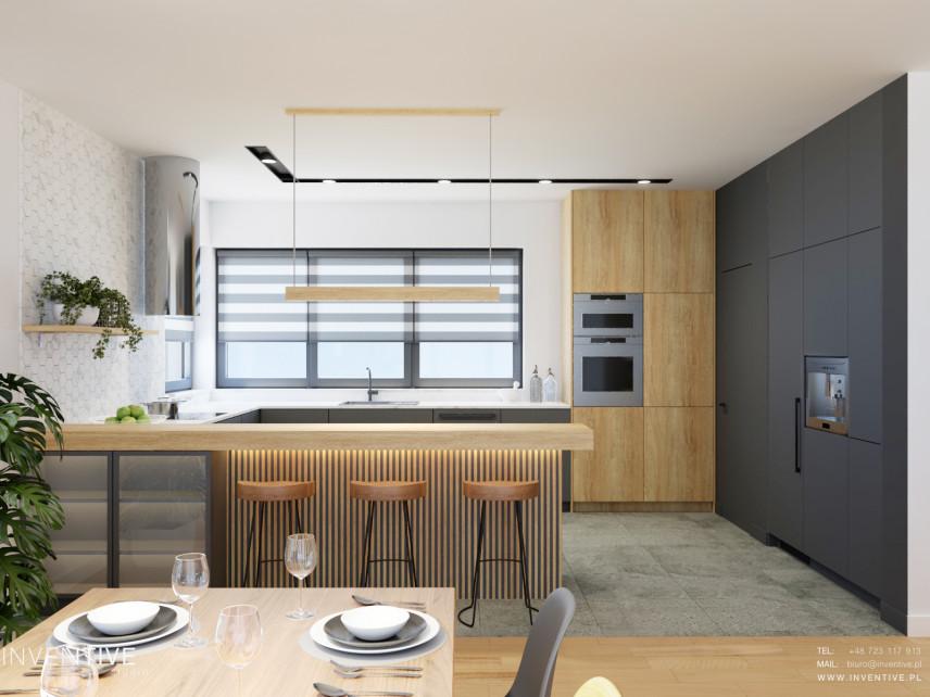 Kuchnia z oknem w stylu scandi
