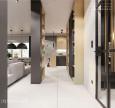Aranżacja korytarza otwartego na salon