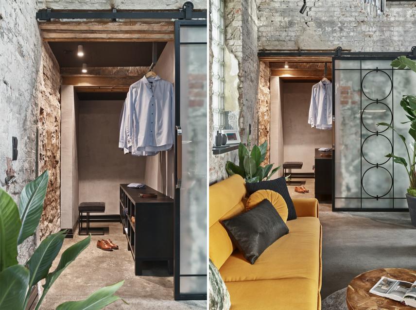 Garderoba w loftowej wnęce