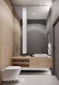 Łazienka z lustrem na całą ścianę
