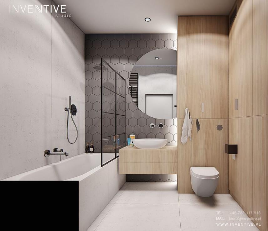 Aranżacja łazienki z dużą wanną zabudowaną
