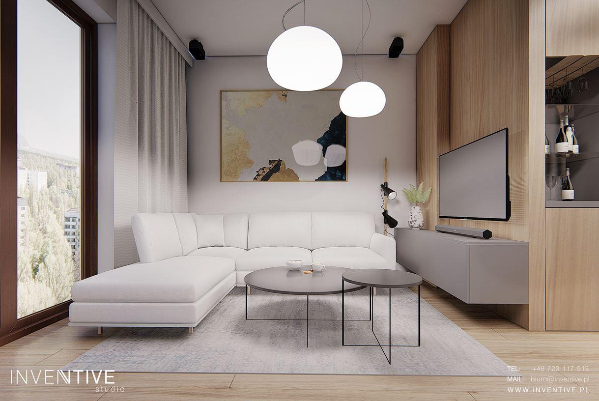 Modny obraz w salonie