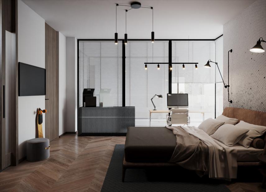 Minimalistyczna sypialnia w klasycznym stylu