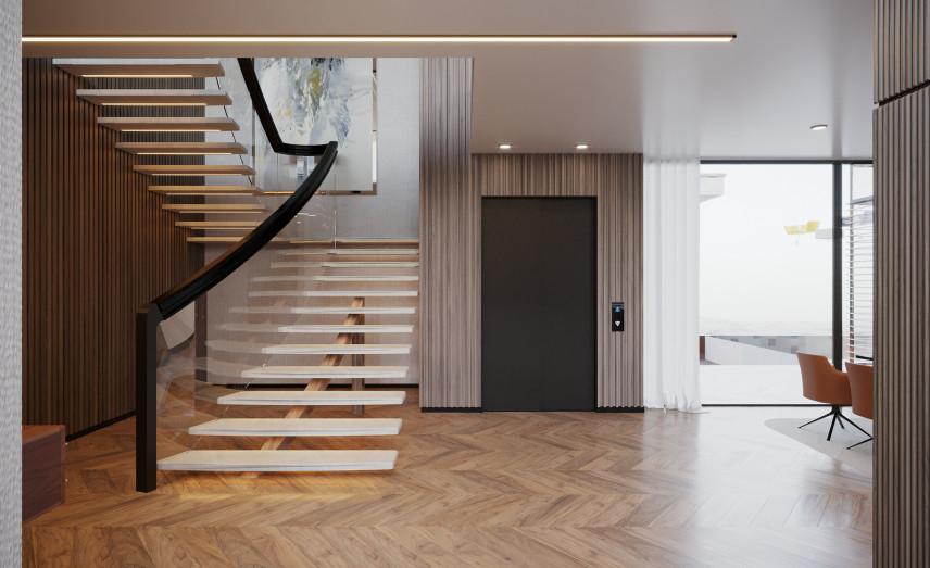 Przedpokój ze schodami