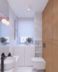 Mała łazienka w jasnych kolorach
