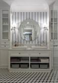 Elegancka łazienka z designerskim lustrem