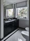 Łazienka w kolorze czarno-białym