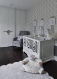 Pokój niemowlaka w stylu glamour