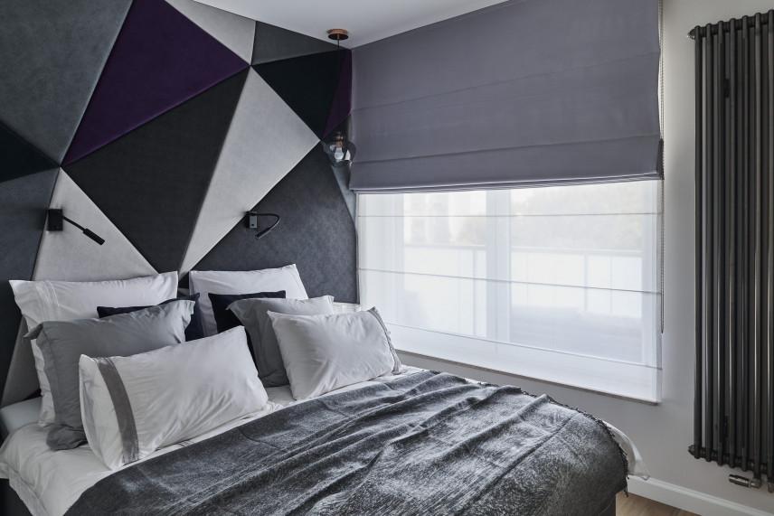 Aranżacja sypialni z tapicerowaną ścianą
