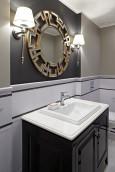 Łazienka z lustrem w stylu Art Deco