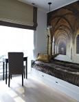 Pokój gościnny ze stylową tapetą