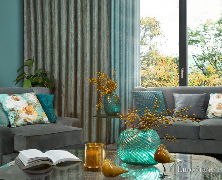 Aranżacja salonu w kolorach jesieni