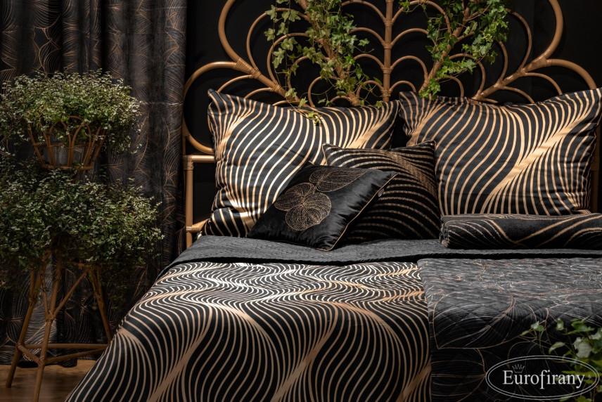 Elegancka sypialnia w kolorze czarnym