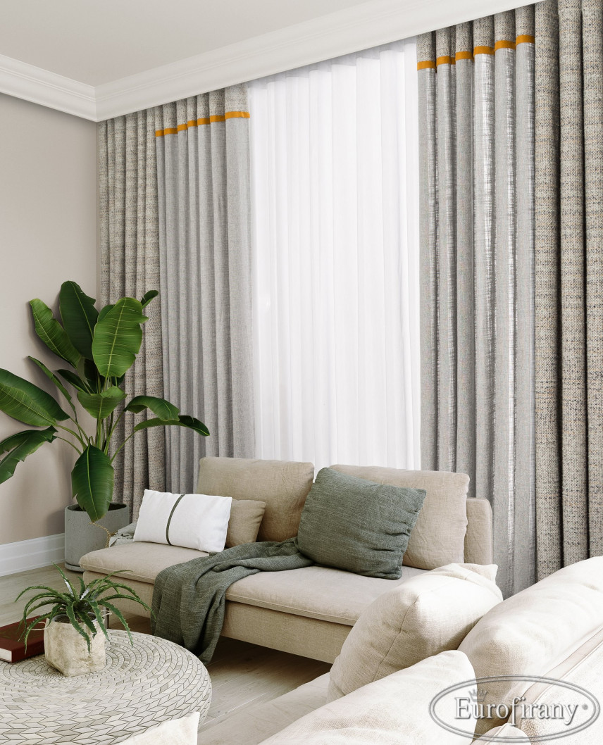 Aranżacja salonu z beżową sofą
