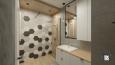 Aranżacja łazienki ze wzorem heksagonalnym