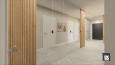 Aranżacja korytarza z szafą z lustrzanymi frontami