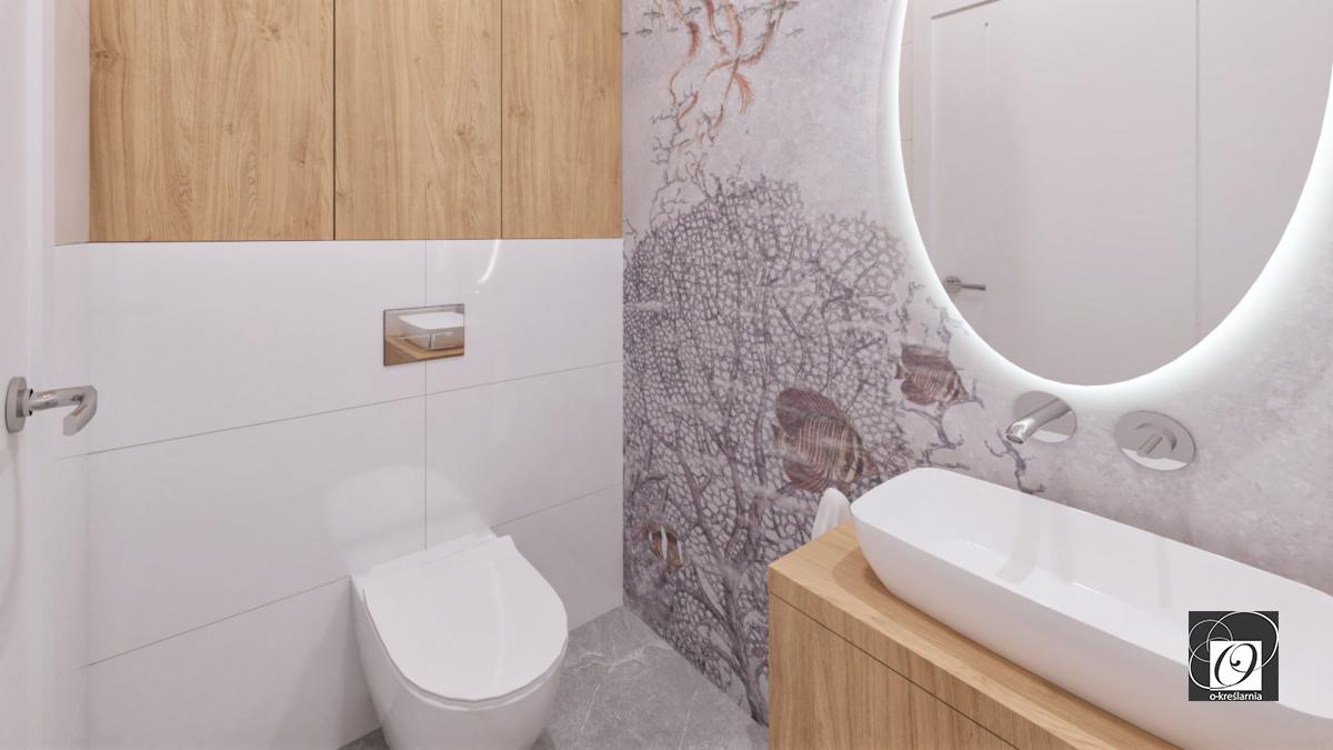 Aranżacja łazienki z owalnym zlewem