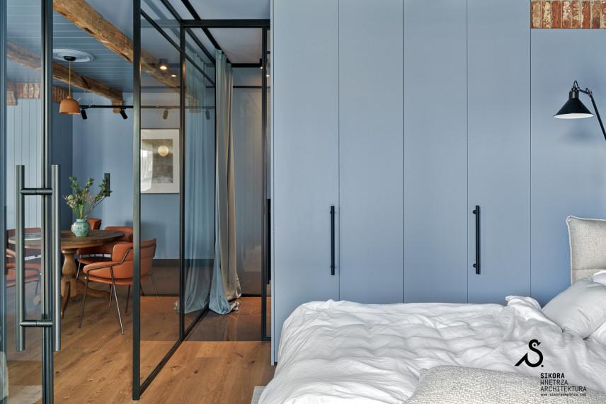 Sypialnia w kolorze błękitnym