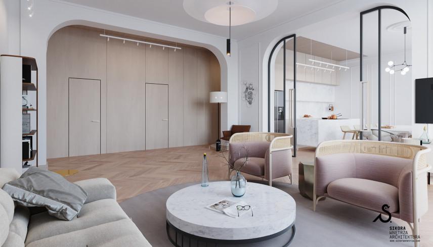 Klasyczny salon z elementami Art Deco